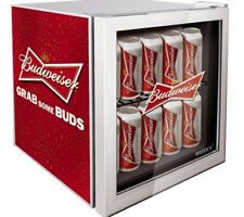 Husky EL202 Red & Grey Budweiser Table Top Drinks Chiller / Mini Fridge PWB