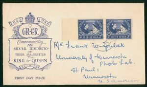 Mayfairstamps South West Africa 1948 Silver Wedding Pair first Day Cover wwp7977