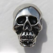 Biker Rocker Punk Skull Totenkopf Schädel Totenschädel Druckknopf Knopf NEU