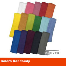 Couver 6 pieces Mixed in Colors Cotton Sports Basketball Headband /Sweatband Hea