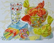 """Janet Fish """" Candy """"1996 limited edition 35/100 Hand signed Lithograph US Artist"""