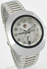 Vintage Rado Diastar Automatic 36 MM Silver White Stone Men's Wrist Watch