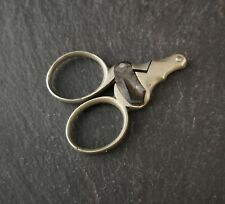 Antique cigar cutter scissors, travel size, Edwardian