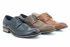 Route21 Men's Classic Gibson Formal London Brogues Lace up Shoes Mens UK 13 / EU 47 Tan Burnished PU