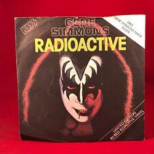 "GENE SIMMONS Radioactive 1978 UK 7"" RED Vinyl Single Masque excellent Kiss"