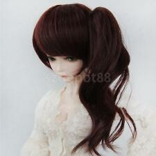 Deep Brown Pony Tail Bang Full Wig Hair for 1/3 BJD MSD SD DOD Dollfie DOLL