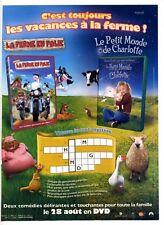 Publicité années 2000 pour DVD – La ferme en folie – Le petit monde de Charlotte