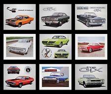 9 PLYMOUTH ART PRINTS: ROAD RUNNER GTX SATELLITE 1971 1972 1973 1974 440 400 383