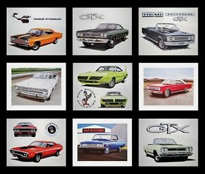 OLD PLYMOUTH POSTERS - 1971 1972 1973 1974 ROAD RUNNER GTX SATELLITE 440 400 383