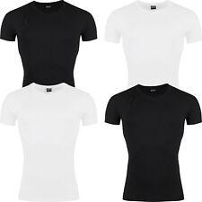 New Mens Slim Fit T Shirt V Neck Short Sleeve Muscle Gym Plain Cotton Top Lot