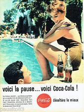 PUBLICITE ADVERTISING 096  1961  Coca-Cola  soda la pause