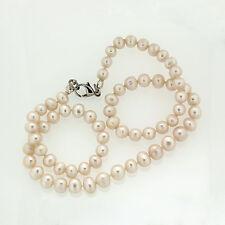 NEU Perlenkette Halskette aus echten Süßwasser-Zuchtperlen