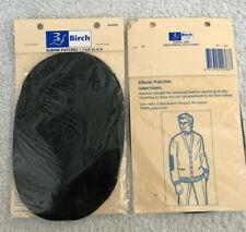 Birch Elbow Patches. 1 pair black.