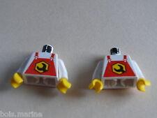 Lego 2 torses set 6446 6434 6464   /2 white torso from minifig