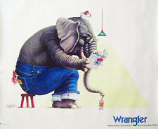 5 Vintage WRANGLER Exclusive Original 1970's Lithographs Ad Posters