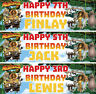 2 x personalised Madagascar birthday banner children nursery kids party deco