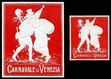 "Italy - 1912 ""Carnavale di Venezia"" Embossed Poster Stamps - 2 Different Sizes"