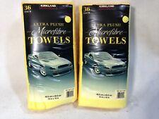 2 (36) pack Kirkland Signature Ultra Plush Microfibre Towels Auto Home