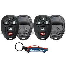 2 Replacement Remote Start Key Fob Shell Pad Case for 2006-2013 Chevy Impala