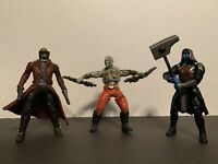 """Lot of 3 Marvel Guardians of the Galaxy 5"""" Figures Ronan, Drax, Star Lord 2014"""