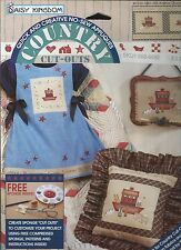 DAISY KINGDOM  No-Sew Fabric Applique Country Cut-Outs #c123-1681-003 Crackers