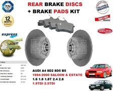 für Audi A4 8D 2 8D5 B5 1.6 1.8 2.4 2.8 1.9 Bremsscheiben SET HINTEN +