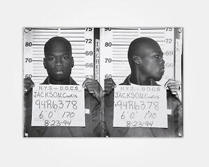 50 Cent Wood Print Celebrity Mugshot Booking Photo Mug Shot Pop Art C.Jackson