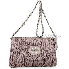 New GUESS Purse Womens Handbag Edna Satchel Shoulder Bag Tan Logo Sac NwT Bolso