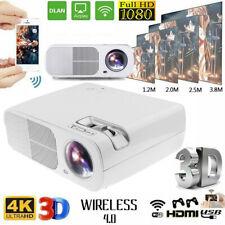 12000lm LED Mini Full HD Wifi Projektor Android Multimedia Heimkino 3D Beamer DE