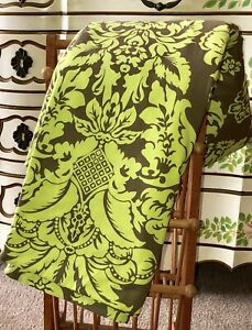 Handmade Quilt Throw. Green And Brown. 100% Cotton