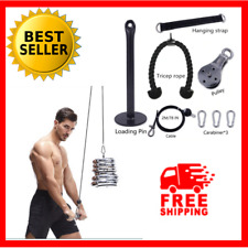 Home Gym Equipment Set Fitness Exercise Pull Rope Workout Machine Attachment NEW