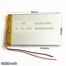 4000mAh 3.7V LiPo Polymer Rechargeable Battery For Power Bank Tablet PC 606090