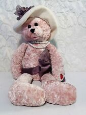 "Chantilly Lane Musical Purple Bear 22"" Rose Singing ""Love"" Plush Stuffed Moving"