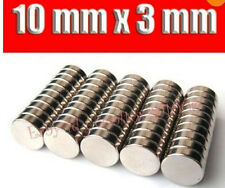 50pcs Small Round NdFeB Neodymium Disc Magnets Dia 10mm x 3mm N35 F14856
