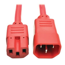 More details for tripp lite 3ft heavy duty power extension cord 15a 250v 14 awg c14 c15 red 0.91m