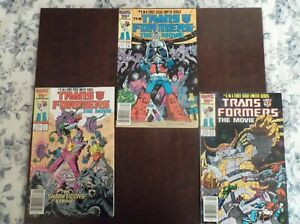 TRANSFORMERS THE MOVIE 1-3 1987 NEWSTAND COPIES
