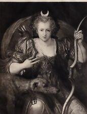 1896 Antik Aufdruck (Queen Elizabeth I) Queen Elizabeth Als Diana