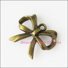 12Pcs Antiqued Bronze Tone Lovely Butterfly Bow Charms Pendants 19x22.5mm