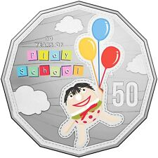 2016 Australia 50 Years of Play School Unc Coloured 50cent Coin Humpty Ex PNC