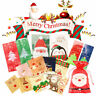 100pcs Christmas Candy Gift Bags Xmas Self Adhesive Santa Cookies Plastic Bags