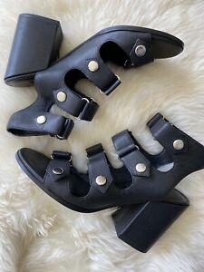 Senso Stella Leather Heels Size 38 RRP $285