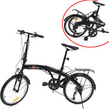 Bici Bicicletta Pieghevole 20 Pollici 6 Velocità Folding Biycle+manubrio campana