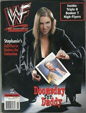 WWE VINCE MCMAHON  Signed WWF Magazine November  2001 W/Proof
