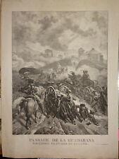 GRANDE Litho Sierra Guadarrama MADRID ESPAÑA PENINSULAR WAR NAPOLEON EMPIRE 1820