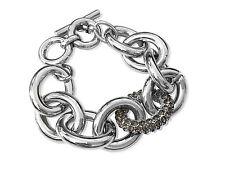 Banana Republic GLAMOUR Pave Grey Crystal Statement Toggle Bracelet NWOT $59