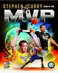 """Stephen Curry Golden State Warriors MVP Composite Photo (Size: 8"""" x 10"""")"""