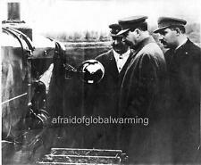 Photo 1933 Russia Stalin Inspects First Soviet Tractor