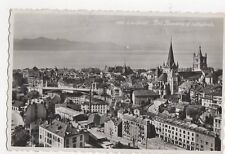 Lausanne Pony Bessieres & Cathedrale 1950 RP Postcard Switzerland 319a