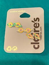 Three Pairs Of Colorful Claires Donut Earrings New
