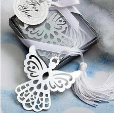 1x Exquisite Angel Alloy Bookmark With Ribbon Box As Gift